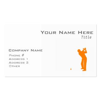 Orange Golf Pack Of Standard Business Cards