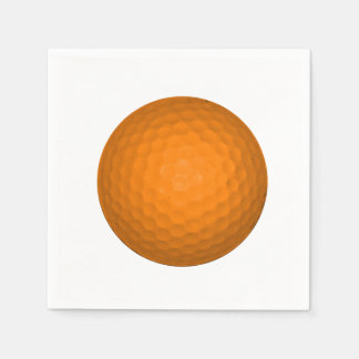 Orange Golfball Disposable Serviettes