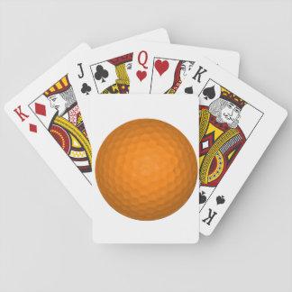 Orange Golfball Playing Cards