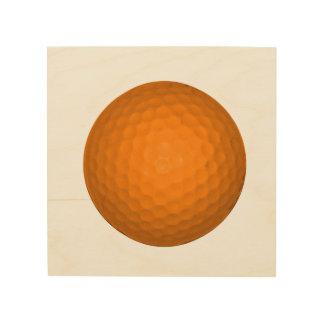 Orange Golfball Wood Canvas