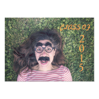 Orange Graduation Party Invite 2015