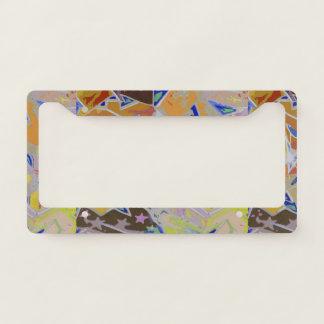 Orange Graffiti Design License Plate Frame