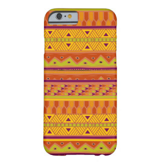 Orange Green Abstract Aztec Tribal Print Pattern Barely There iPhone 6 Case