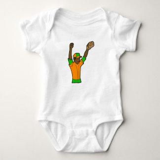 Orange Green Baseball Baby Bodysuit