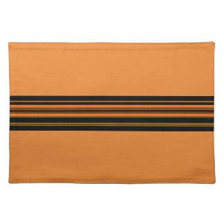 Orange Green Black Stripes Placemat