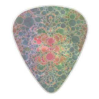 Orange Green Blue Abstract Pearl Celluloid Guitar Pick