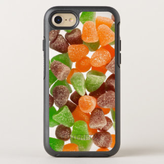 Orange green red gum candy sprinkled with sugar OtterBox symmetry iPhone 7 case