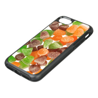 Orange green red gum candy sprinkled with sugar OtterBox symmetry iPhone 8/7 case