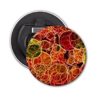 Orange_Green_Red Pattern Button Bottle Opener