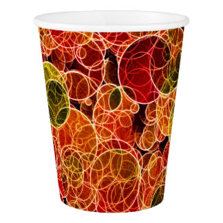 Orange_Green_Red Pattern  Paper Cup
