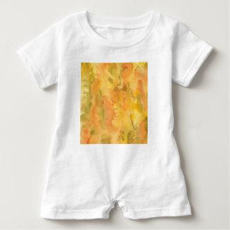 Orange Green Watercolor Baby Romper Baby Bodysuit