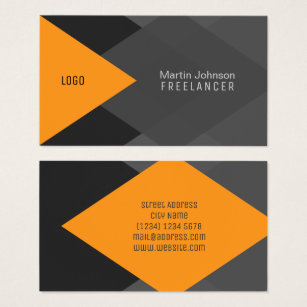 Black and orange business cards business card printing zazzle uk orange grey black geometric modern cover business card colourmoves
