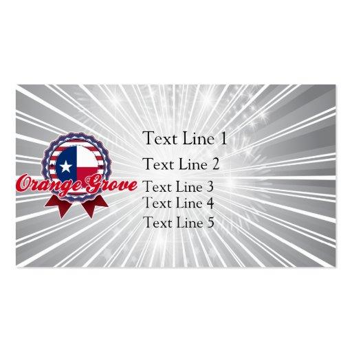 Orange Grove, TX Business Card Templates