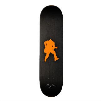Orange Guitar Player Skateboard Decks