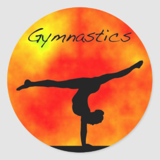 Orange Gymnastics Sticker