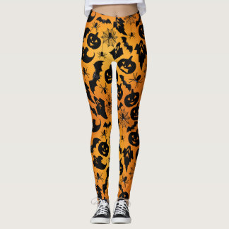 Orange Halloween Leggings