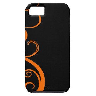 Orange Halloween Swirl iPhone 5 Cases