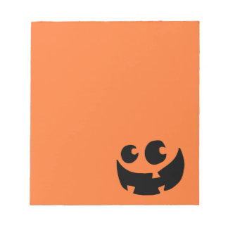 Orange Happy Halloween Pumpkin Notepad