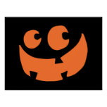 Orange Happy Halloween Pumpkin Poster