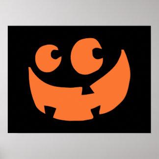 Orange Happy Halloween Pumpkin Poster
