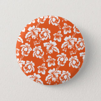Orange Hawaiian Hibiscus 6 Cm Round Badge