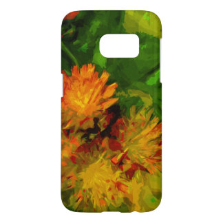 Orange Hawkweed Wildflower Blossoms Abstract