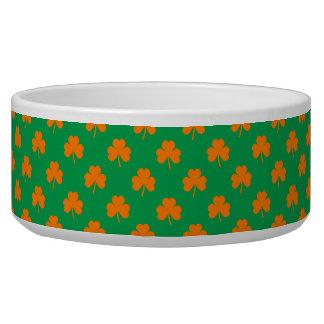 Orange Heart Shamrocks on Irish Green St.Patrick's