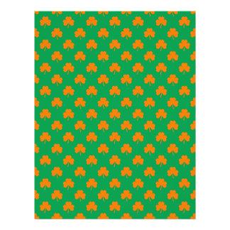 Orange Heart Shamrocks on Irish Green St.Patrick's Flyer