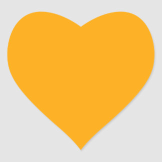 Orange Heart Sticker