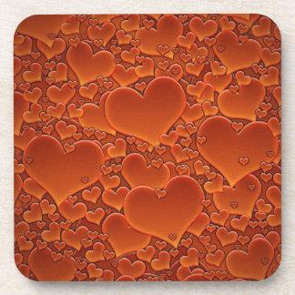 Orange Hearts Coaster