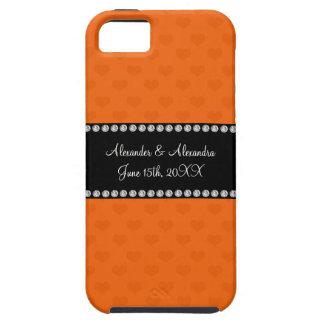 Orange hearts wedding favors iPhone 5 case