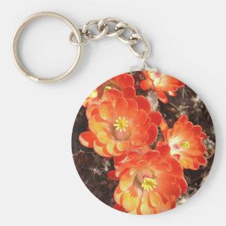 Orange Hedgehog Cactus Flowers Key Chains