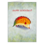Orange Hedgehog Greeting Card(customisable)