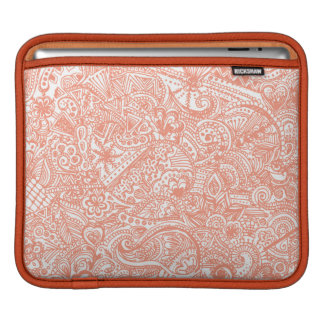 Orange Henna iPad Sleeve