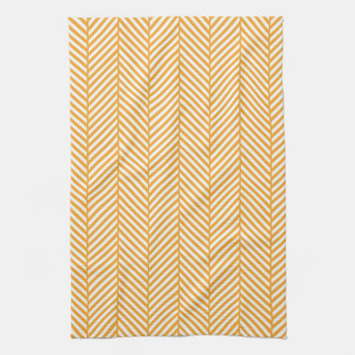 Orange Herringbone Tea Towel