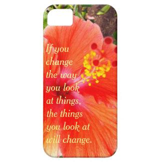 Orange Hibiscus Case For The iPhone 5
