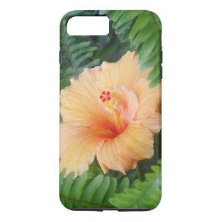 Orange Hibiscus Flower with Ferns iPhone 7 Plus Case