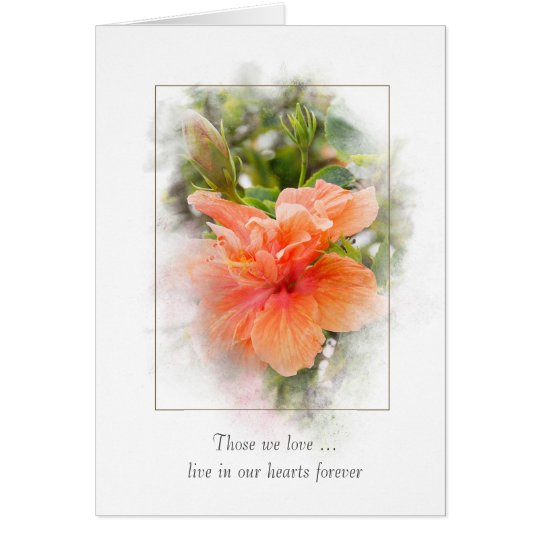 orange hibiscus for sympathy card
