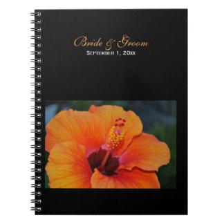 Orange Hibiscus Wedding Notebook