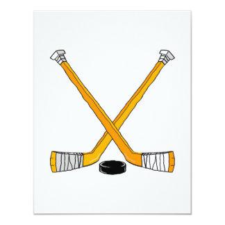 Orange Hockey Card