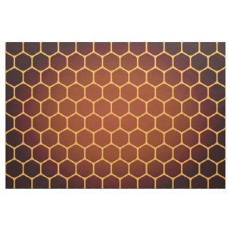 Orange honeycomb pattern fabric