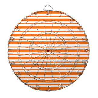 Orange Horizontal Pinstripe Dartboard