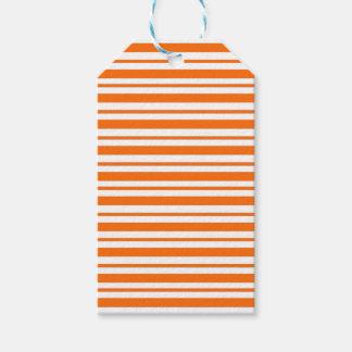 Orange Horizontal Pinstripe Gift Tags