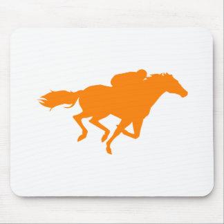 Orange Horse Racing Mouse Pad