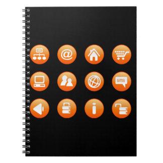 Orange Hot Keys Spiral Notebook
