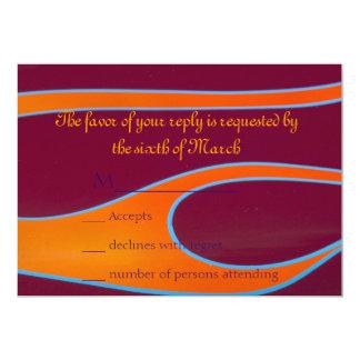 Orange Hotrod flames RSVP 13 Cm X 18 Cm Invitation Card