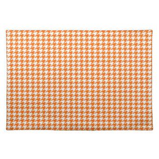 Orange Houndstooth Placemat