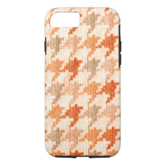 Orange Houndstooth Scottish Hounds Tooth Check iPhone 8/7 Case