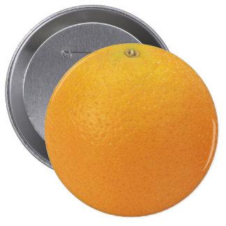 Orange Huge, 4 Inch Round Button