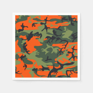 Orange Hunter Camo Disposable Serviette